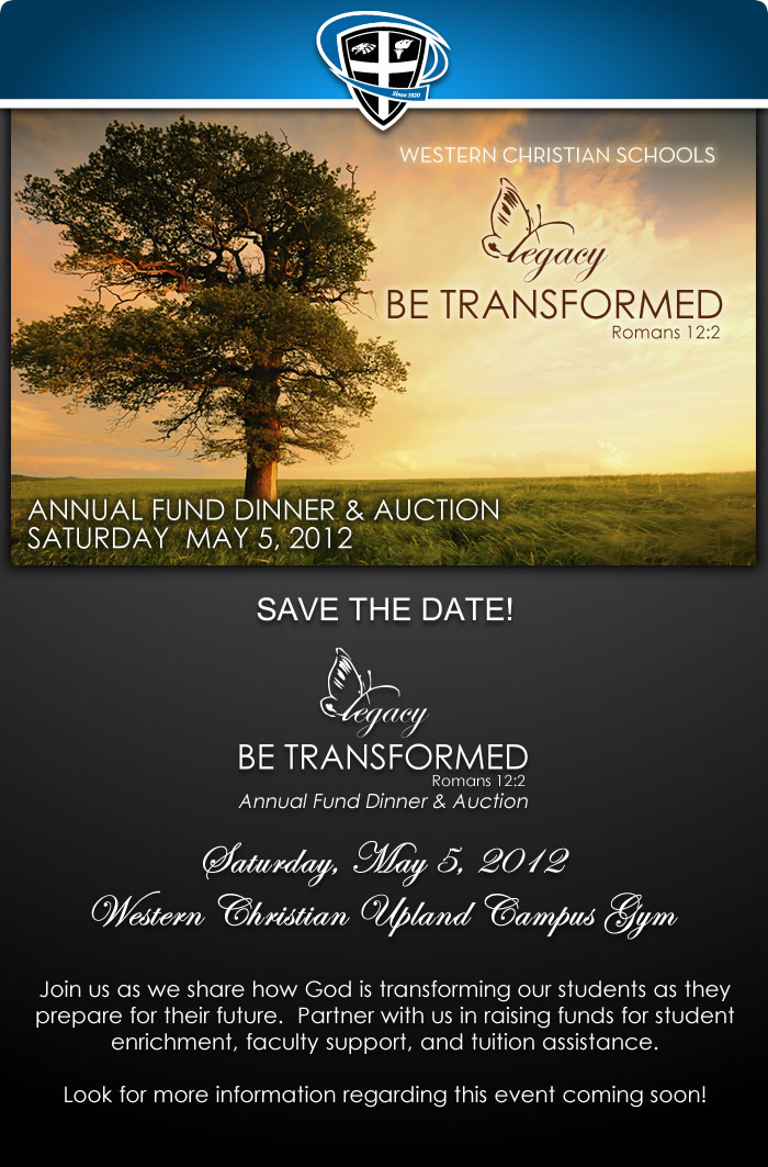 Legacy Annual Dind Dinner & Auction May 5th 2012